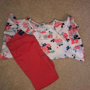 Girls top and pants